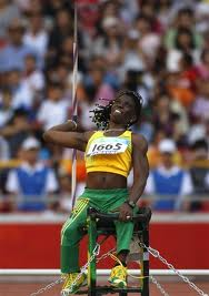 Javalin thrower Sylvia Grant