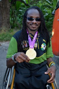 wheelchair athlete w medal